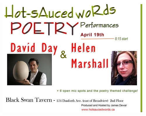 April 19th 2012 Featuring David Day and Helen Marshall